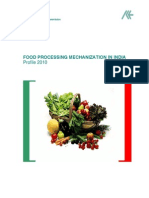 Food Processing Mechanization in India- Profile 2010