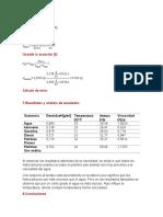 Cálculos fisico quimica