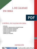 CONTROL DE CALIDAD EN OBRA