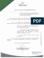 Lei 2614 de 19-12-2017 - Altera a Alíquota do ITBI