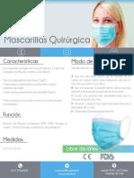 Mascarilla Quirurgica - Ficha Tecnica - Ecohealth