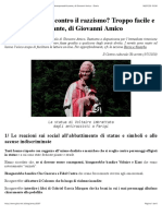 Abbattere statue contro il razzismo? Troppo facile e deresponsabilizzante, di Giovanni Amico - Diario