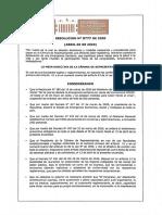 Resolucion 777 Mesa Directiva Camara de Representantes Autoriza Sesiones Virtuales