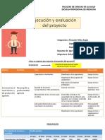 EJECUCION Y EVALUACION DEL PROYECTO - SEM 8