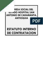 ESTATUTO CONTRACTUAL CARAMANTA