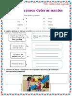 FICHA DE ACTIVIDAD - DETERMINANTES POSESIVOS
