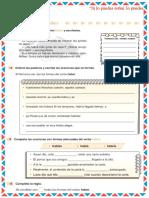 FICHA DE CALIGRAFÌA - USO DE LA H (IV PARTE)
