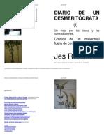 JesRICART Diario  de Un Desmeritócrata I  2011