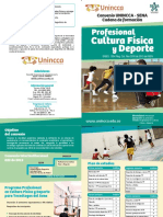 Folleto Unincca - Sena Cultura Fisica
