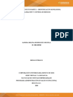 ACTIVIDAD 2. PROYECTO PARTE 1 - IDENTIFICACION DE PELIGROS, VALORACIÓN Y CONTROL DE RIESGOS