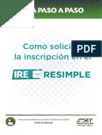 Guía paso a paso - Inscripción en el IRE RESIMPLE