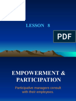 LESSON 8.  EMPOWERMENT AND PARTICIPATION