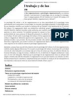 Psicología del trabajo y de las organizaciones - Wikipedia, la enciclopedia libre