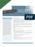Juniper SA 700 Datasheet