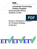 Verification Protocol for Portable Multigas Analyzers