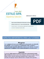 APA 2020.- SINTESIS DE INFORMACIÓN UTIL TUTORIAS