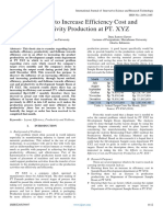 An Efforts to Increase Efficiency Cost and Productivity Production at PT. XYZ