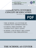 Community Centered Concept of Education