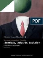 bosso_nader_Temas de antropología filosófica. Identidad, inclusión, exclusión