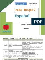 Plan 1er Grado - Bloque 2 Español.doc