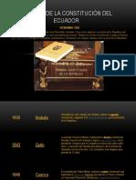 HISTORIA DE LA CONSTITUCIÓN DEL ECUADOR