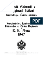 Italian Generals, Colonels and Regiments of the Austrian Army 1847