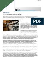 20101216 - La Nación - Si es más caro, es mejor