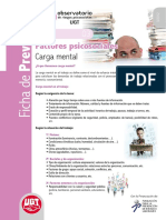 UGT - Ficha de Prevención 03 - Carga Mental