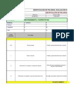 Matriz identificación de Peligros-Riesgos. Contratistas.
