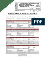 REPORTE DIARIO DE SALUD DEL PERSONAL