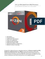 bhphotovideo.com-AMD Ryzen 3 2200G 35 GHz Quad-Core AM4 Processor