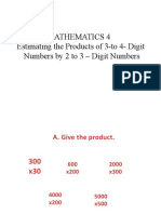 Estimating the Products of 3- to 4- Digit Numbers