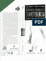 Yeomans, Clarkin y Kernberg, Psicoterapia centrada en la trasferencia. Su aplicación al trastorno límite de la personalidad