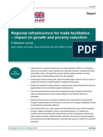 Regional infrastructure for trade facilitation – impact on growth and poverty reduction
