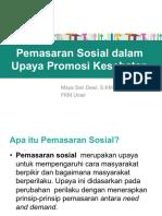 Pemasaran Sosial dalam Upaya Promosi Kesehatan 2019