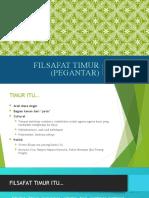 FILSAFAT TIMUR (PEGANTAR) 28-01-2015