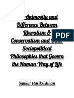 The Animosity Between Liberalism and Conservatism, And Other Political and Social Philosophies That Govern the Human Way of Life