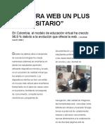REPORTAJE LECTURA WEB UN PLUS UNIVERSITARIO