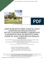 ¿Qué se necesita para jugar al golf_ Conocer las reglas básicas – Club de Golf Retamares – Noticias