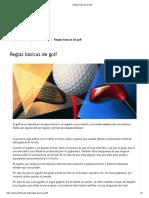 Reglas básicas de golf