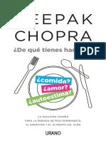 De Que Tienes Hambre Deepak Chopra