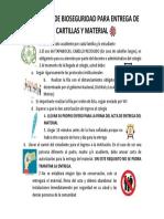 PROTOCOLO DE BIOSEGURIDAD PARA ENTREGA DE CARTILLAS Y MATERIAL