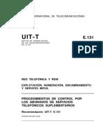 T-REC-E.131-198811-I!!PDF-S