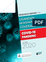 Research report -  Ugandan newspaper coverage of the Covid-19 pandemic from January to April 2020