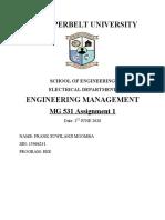 Management Assignment 1