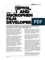 Powder film developers technical data sheet
