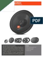 JBL Stage Speakers Spec Sheet