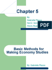Basic Methods for Making Econmy Studies
