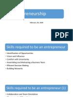 ENTR Skills and DM