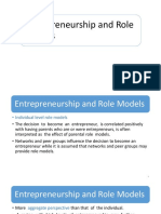 Entrepreneurship and Role Models